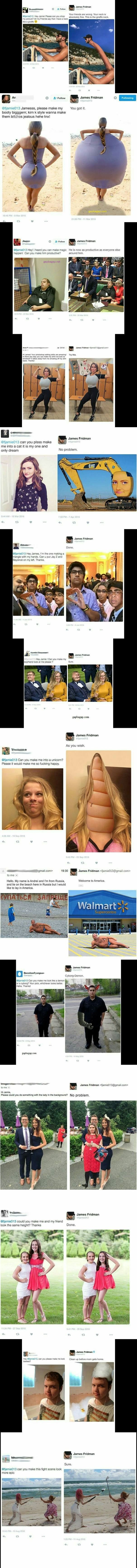 Top 15 Funny Photoshop By James Fridman