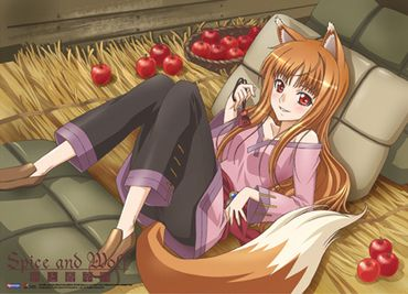 Spice and Wolf: Holo with Apple Wall Scroll