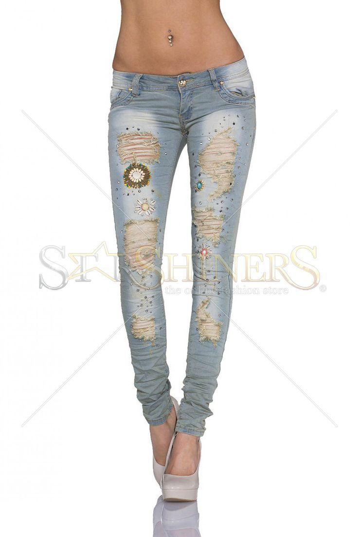Spunky Look Blue Jeans