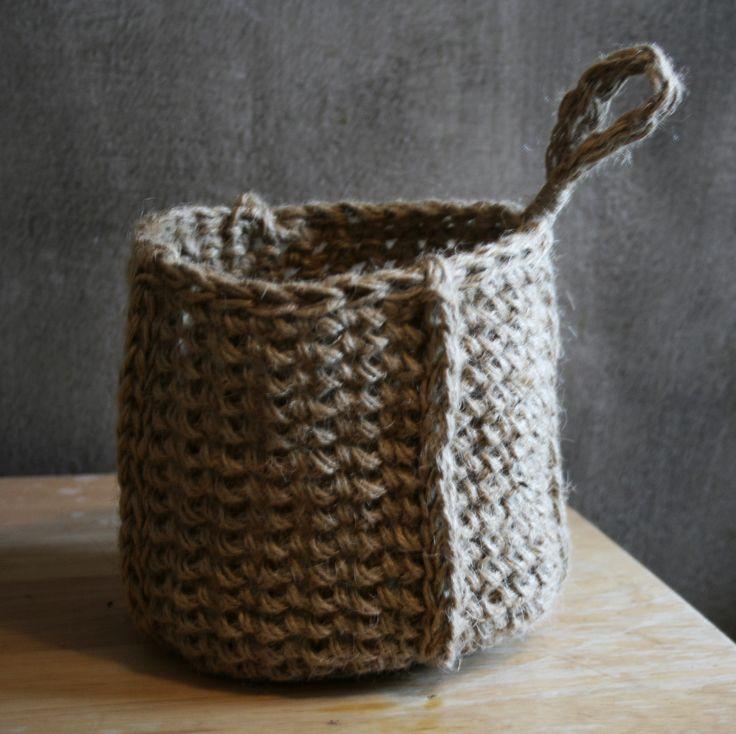 handmade crochet basket