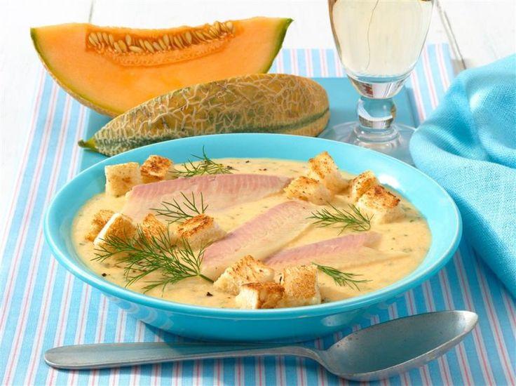 Fisch mal anders: In Melonencreme. Die Mischung aus Herzhaft und Fruchtig gibt der Forelle eine ganz besonders leckere Note.