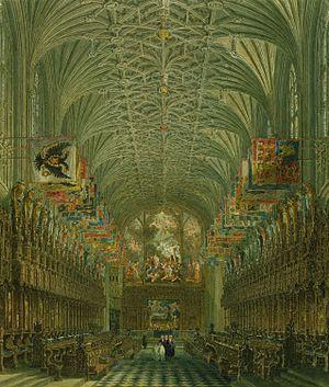 En el Coro de la Capilla de San Jorge (Castillo de Windsor) fueron enterrados la Reina Jane Seymour en 1537 y el Rey Enrique VIII en 1547