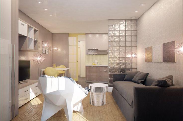 Дизайн квартиры-студии 28 кв. м.