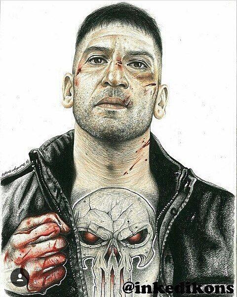 "193 Likes, 3 Comments - Wayne Maguire (@inkedikons) on Instagram: ""The Punisher #repost @jonnybernthal #inkedikons #pencilart #tattoos #thepunisher #daredevil…"""