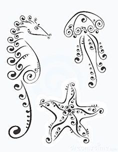 jellyfish tattoo | Sillouettes - Mermaids, Sea Life on Pinterest | Stencils…