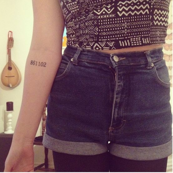 birthdate tattoo.