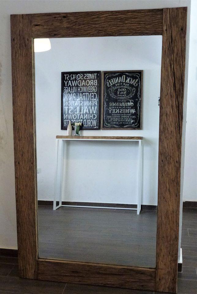 Espejo rustico madera reciclada recuperada espejo de 6 - Espejos rusticos ...