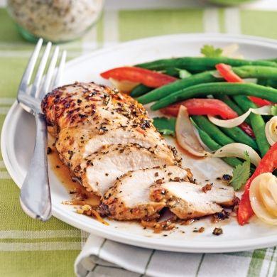 Poitrines de poulet au thé vert - Soupers de semaine - Recettes 5-15 - Recettes express 5/15 - Pratico Pratique