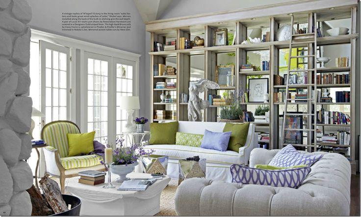 Mirrored bookcases