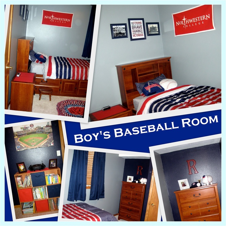 Red Navy Gray Boys Baseball Room Including Links To Paint Colors Bedding