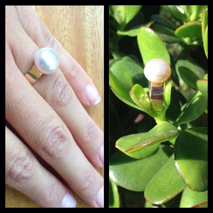 Rose gold & freshwater pearl So by doraszonja