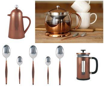 Miedź powraca do naszych kuchni. propozycje La Cafétiere w kolorze miedzi.  http://homeandfood.eu/q/?keywords=mied%C5%BA