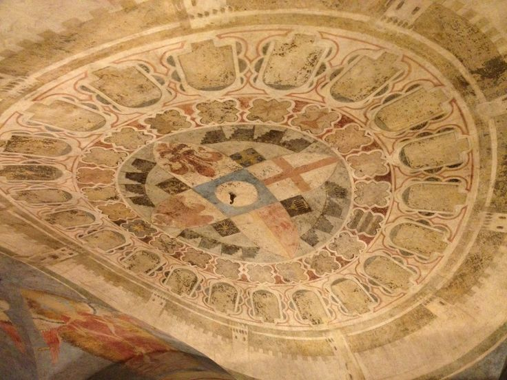 Ceiling of the Judges and Notaries Guild Hall.  Alle Murate.
