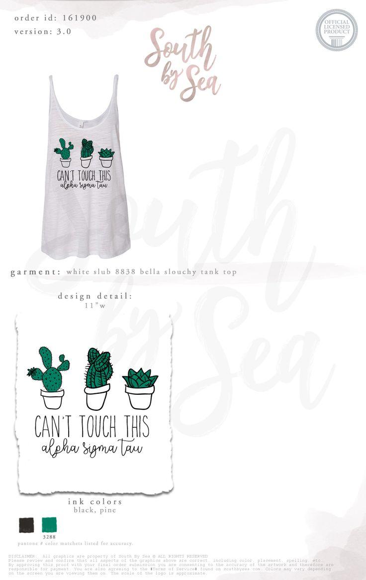 South by Sea | Greek Tee Shirts | Greek Tank Tops | Custom Apparel Design | Custom Greek Apparel | Sorority Tee Shirts | Sorority Tanks | Sorority Shirt Designs | Can't Touch This | Cactus | Cacti | Plants | Recruitment