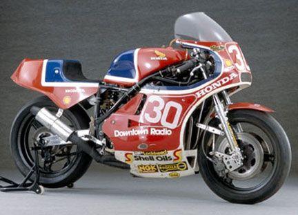 Joey Dunlop's 1982 Honda RSC1000. British champion of 26 TT races. Legend.