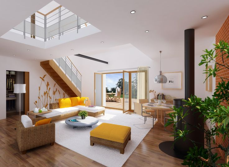 Les 36 meilleures images propos de open living concept for Photo interieur maison