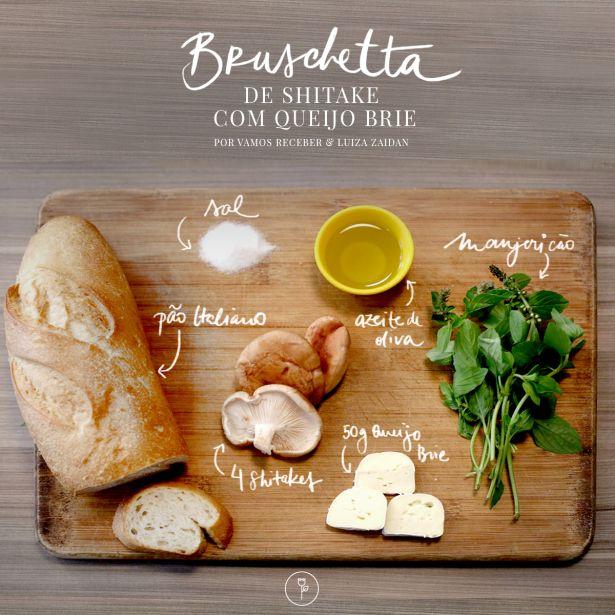 bruschetta shitake e queijo brie