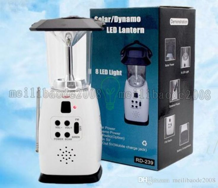 Luxury  LED Solar Powered Lamp Camping Lantern Lighting Dynamo Power Lamps Dynamo Powered FM Radio Light