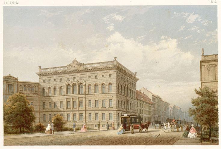 Haus Leipziger Straße 137, Ecke Leipziger Platz 12, von Friedrich Hitzig um 1850 und musste der Erweiterung des Warenhauses Wertheim weichen, Abriss um 1903. Hier befanden sich ursprünglich die britische und türkische Gesandschaft: