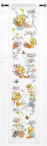 Tweety Height Chart Cross Stitch Kit: Amazon.co.uk: Kitchen & Home