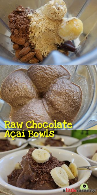 It tastes like Chocolate Ice Cream, but it's really a Healthy Chocolate Acai Bowl Recipe! We eat this for breakfast & lunch often!