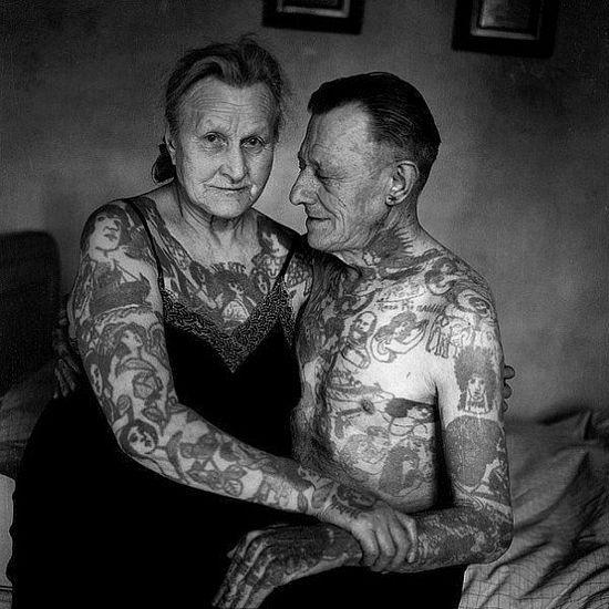 Always wondered how tattoos would look like as people get older...