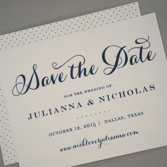 Save the Date - Calligraphy, Classic, Script, Modern, Traditional, Classic, Pretty, Vintage, Simple, Dots, Wedding Save the Date