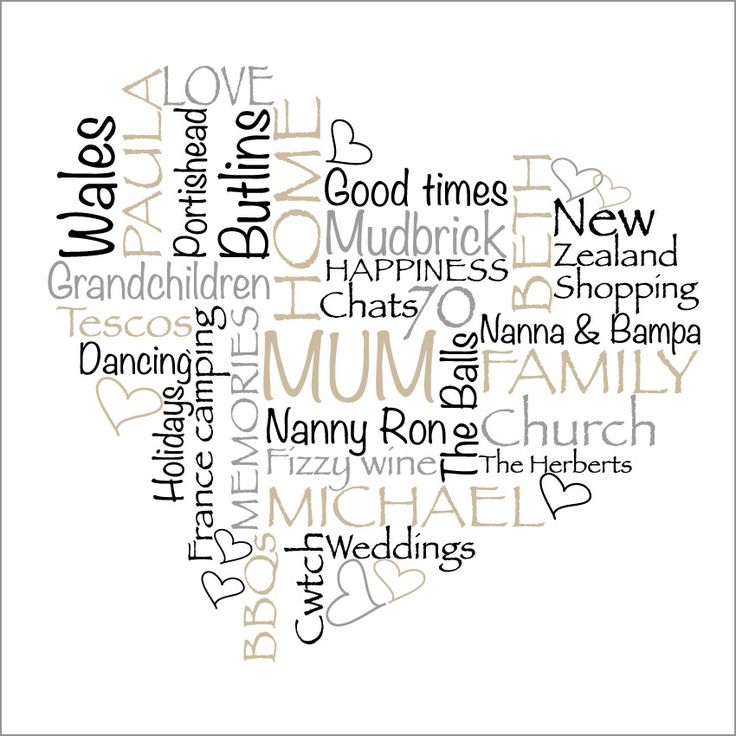 Mums are just the best. I know mine will love me forever. http://wordart.co.nz/