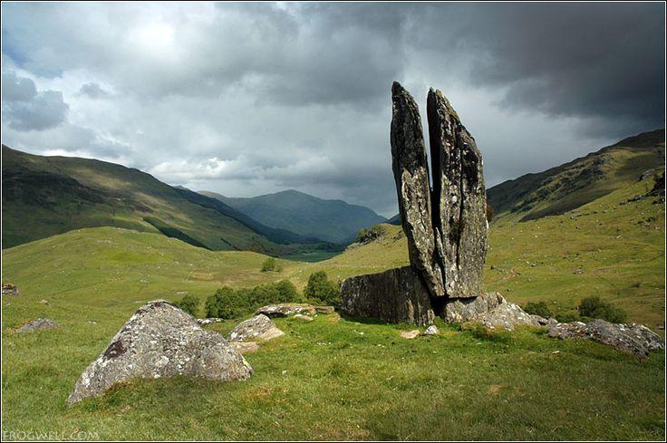 Praying hands of Mary, Glen Lyon, Scotland