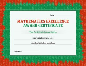 133 best certificates images on pinterest confidence and lion mathematics excellence award certificate template for ms word download at httpcertificatesinn yelopaper Gallery