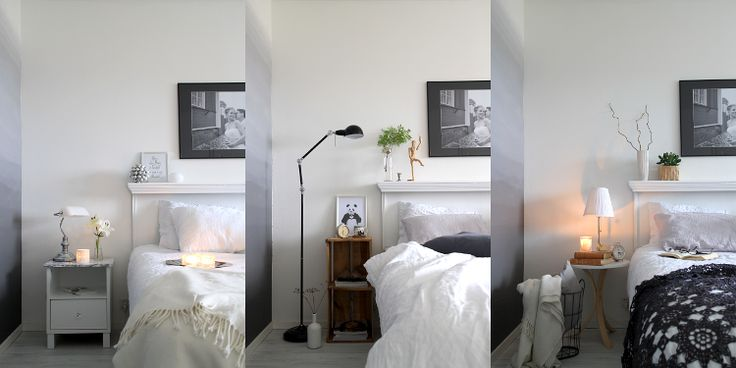 Three different styles in one bedroom <3