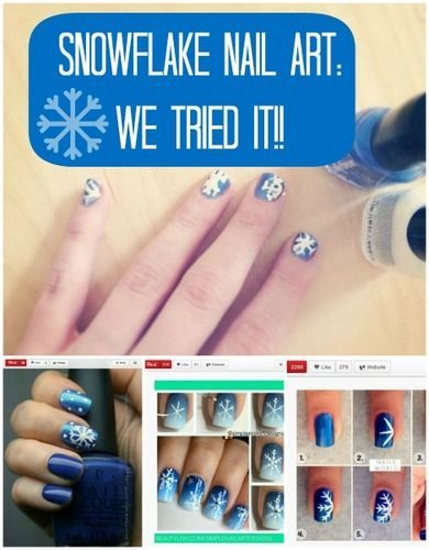 DIY Snowflake Manicure: Is It As Easy As It Looks? (VIDEO)Nails Art, Colorful Nails, Fun Nails, Colors Nails Design