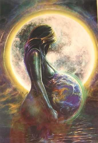 Mother Earth |||| #fantasyart #motherearth #mothernature