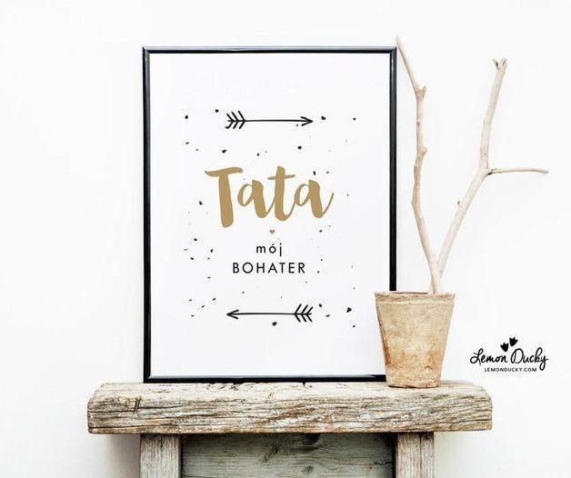 Plakat - Tata - na Dzień Ojca A3 - lemonducky - Dzień Ojca