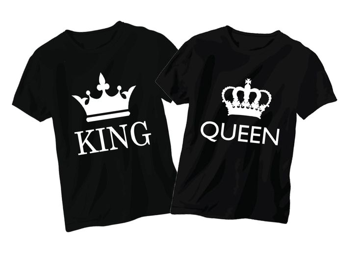 King/Queen Couple Tshirts by Live2LoveNCreate on Etsy