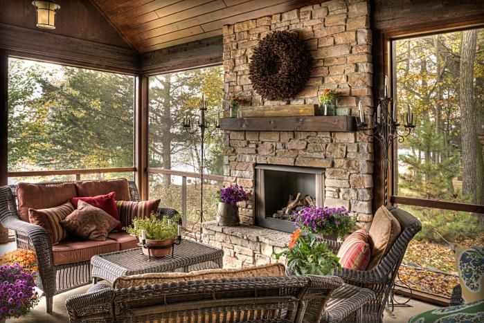I love this screened-in porch!