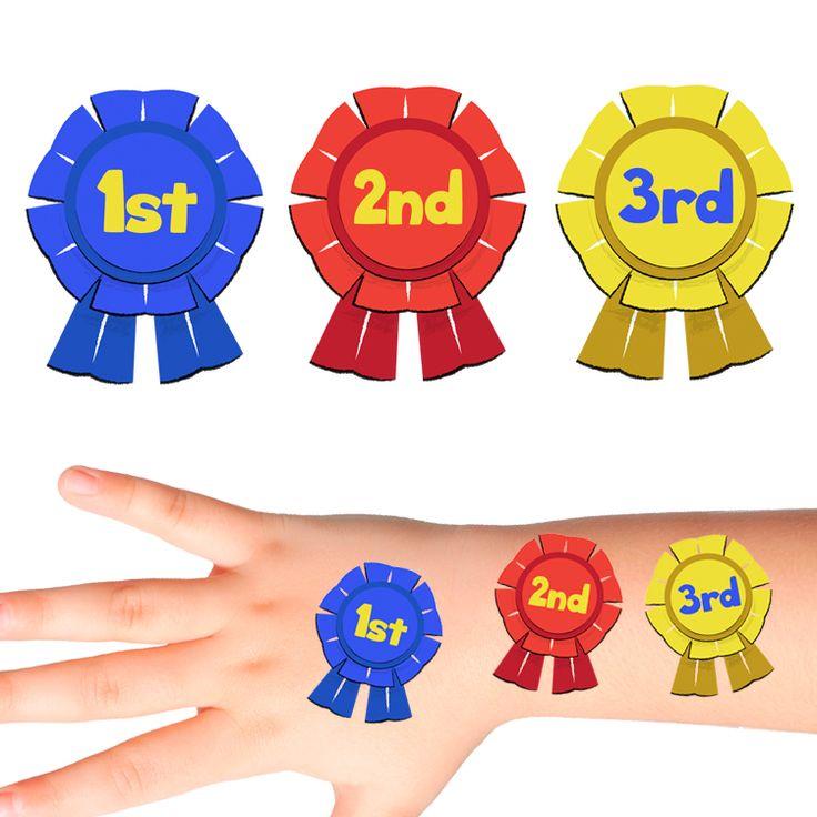 Award Ribbon Temporary Tattoos #311 (30 pack)
