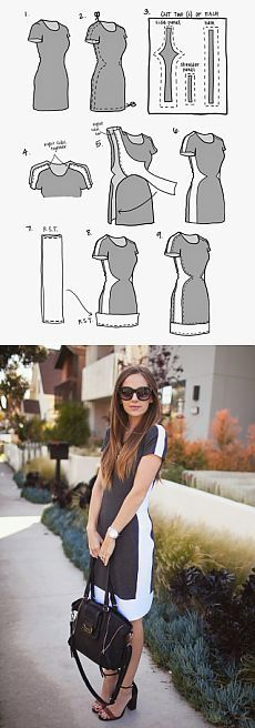 how to increase the size of the dress / Other crafts / sewing