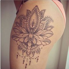 On Point Tattoos for Women – Thigh