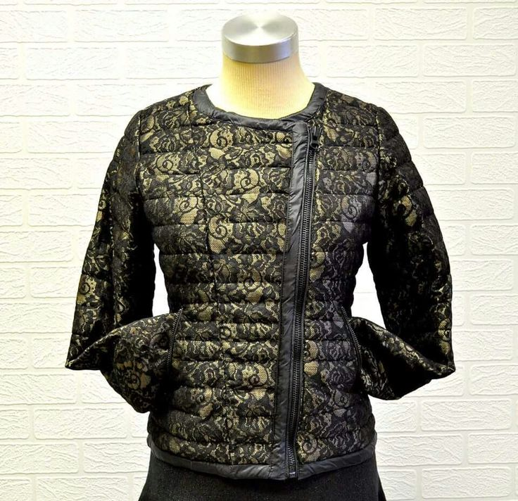 Lovely #lace puffer jacket now available at #NicciBoutiques #NicciWinter2015