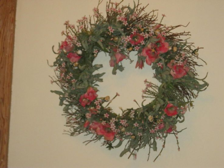 thrift shop wreath $5.00 YES!