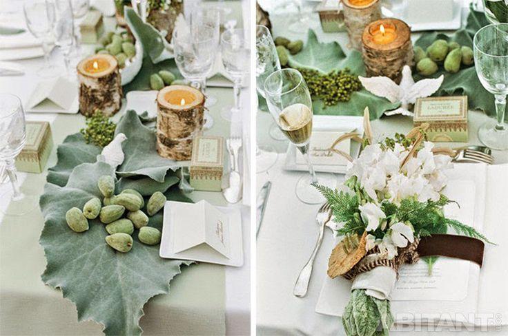 Декоративные детали для оформление свадебного стола на улице