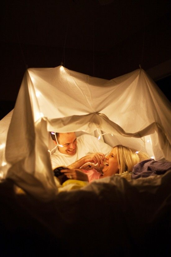 #BLANKET FORT DATE ...Make a blanket fort :) While in it you can read to each other, watch old movies, share snacks, play a board game... get creative!