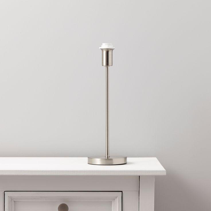 Madison satin chrome effect lamp base