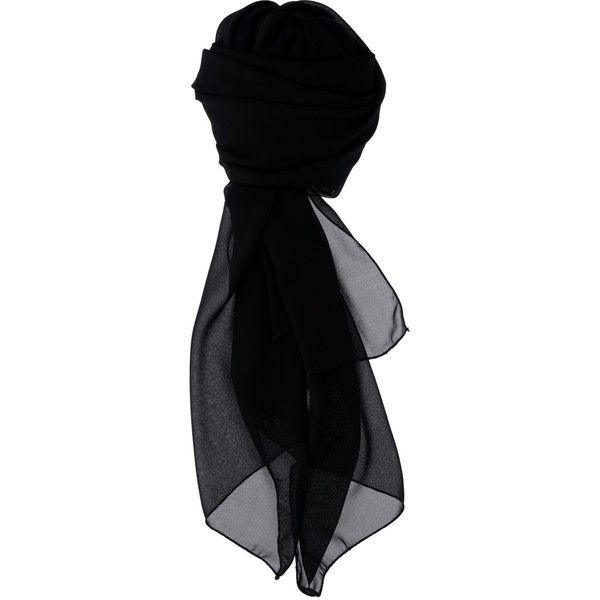 Kocca Plain Black Scarf Karunis ($31) ❤ liked on Polyvore featuring accessories, scarves, black, hats and kocca