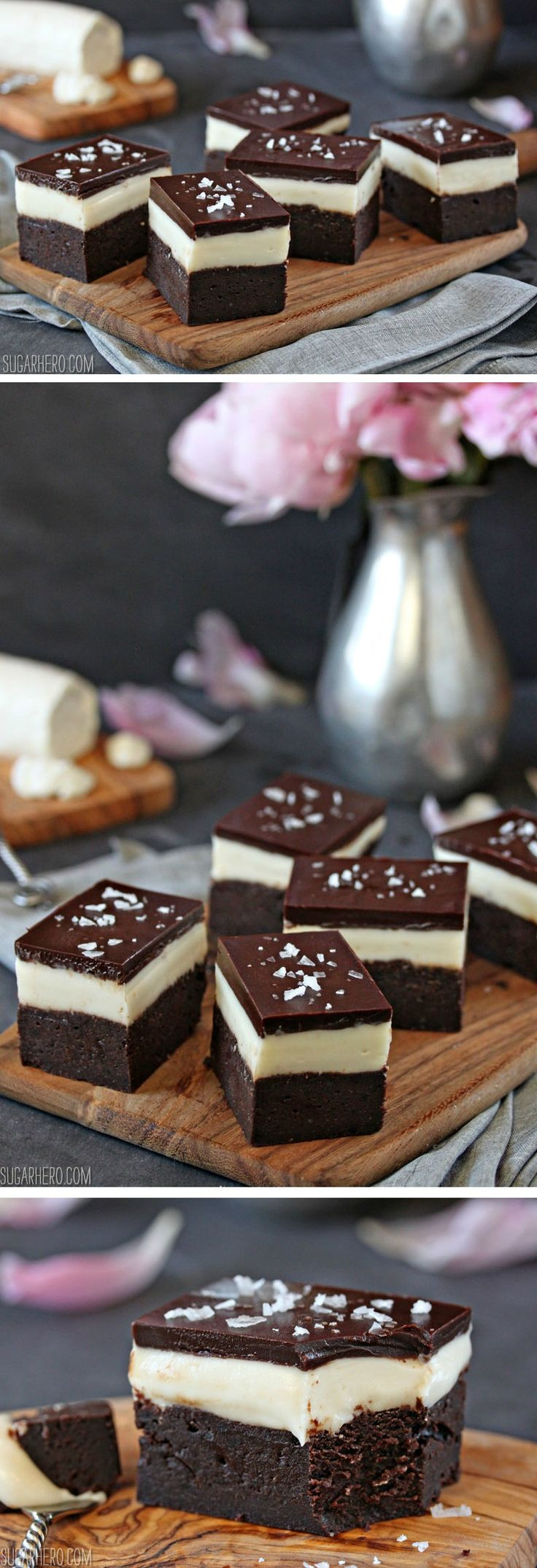 Goat Cheese Brownies -rich and decadent, like cream cheese brownies only better! | From SugarHero.com
