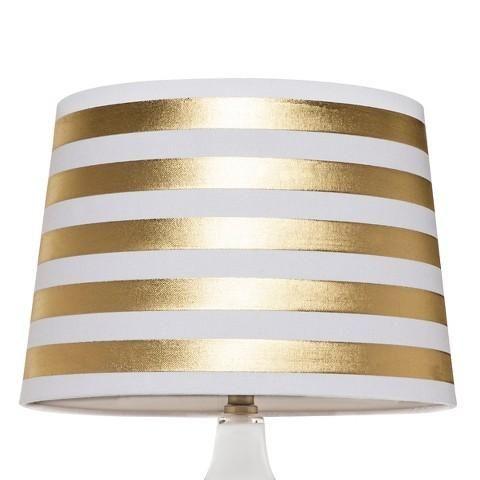 Threshold Gold Stripe Lamp Shade