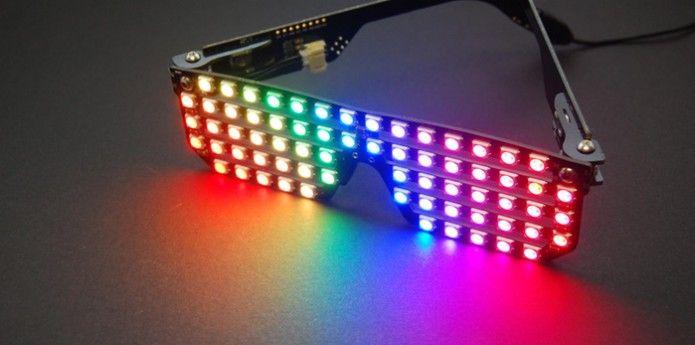 Okulary imprezowe LED.