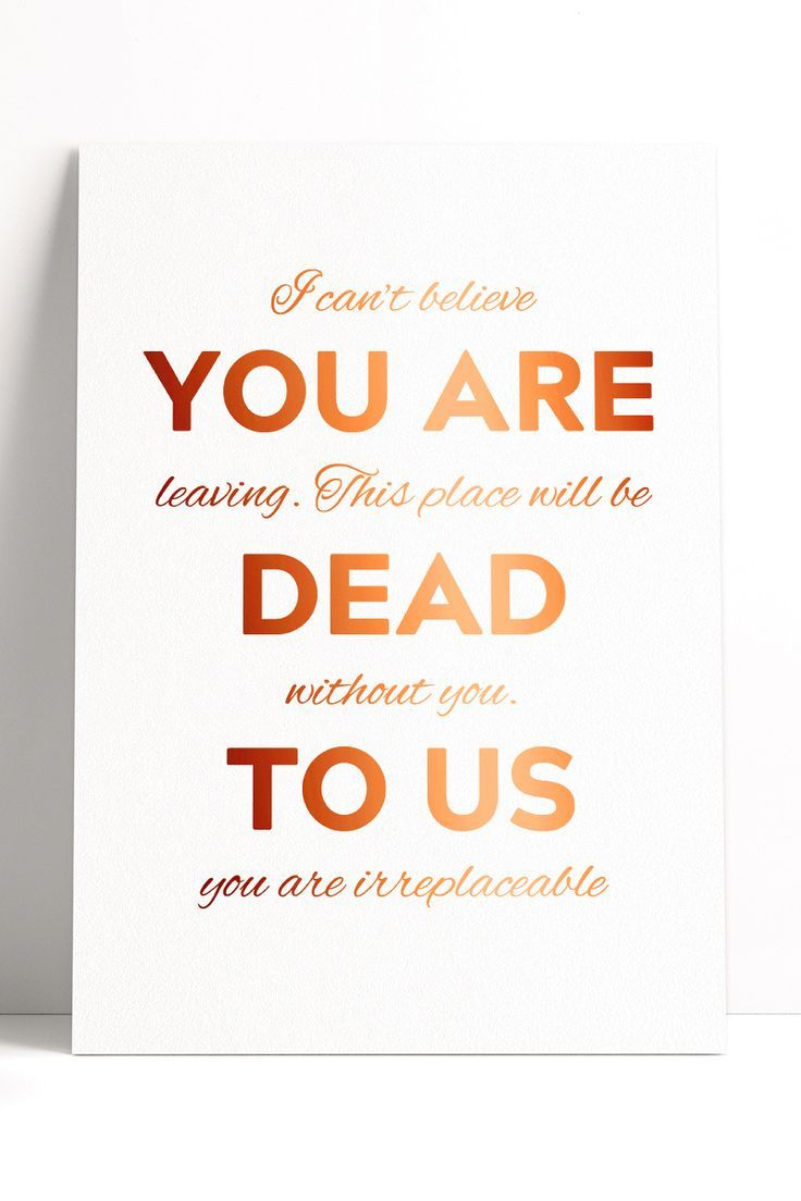 Youre Irreplaceable Leaving Card Stationery & Office Supplies Pertaining To Sorry You Re Leaving Card Template