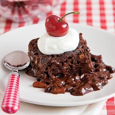 Brownies aux amandes et fudge chaud à la mijoteuse - Recettes - Cuisine et nutrition - Pratico Pratique